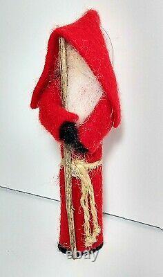 Antique Japan Christmas Ornament Figure Composition Faceless Santa Claus
