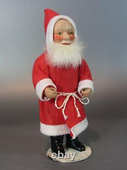Antique Made in German Santa Claus Figure Victorian Bisque and cloth doll 1950's
