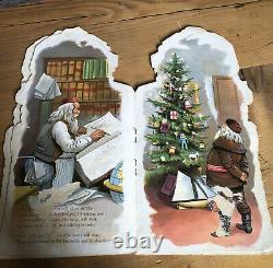Antique McLoughlin Bros All About Santa Claus Christmas Book 1896 New York