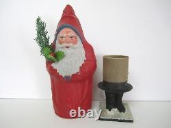 Antique Paper Mache Santa Claus Candy Container
