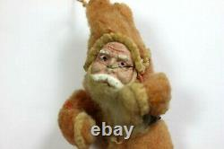 Antique Santa Claus Figure Clay Face Hand Made Coat & Boots German