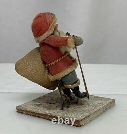 Antique Spun Cotton Santa Claus Christmas Ornament Figure 81354