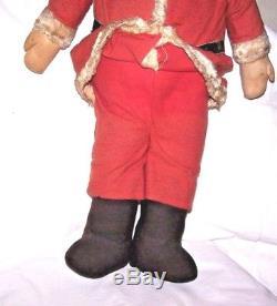 Antique Vintage 26 1/2 SANTA CLAUS Store Display Figure Mask Face Felt Clothes