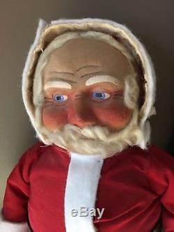 Antique Vintage cloth face Santa Claus