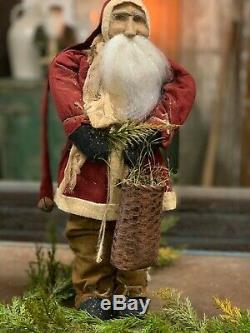 Arnett Santa Claus Christmas Doll with Basket