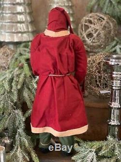 Arnett Santa Claus Christmas Doll with Log House