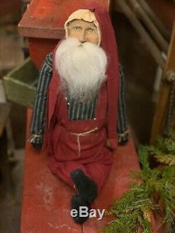 Arnett Sitting Santa Claus Christmas Doll