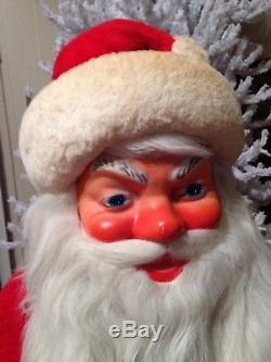 BEST Vintage Christmas Department Store Window Display Santa Claus On Snow Skis