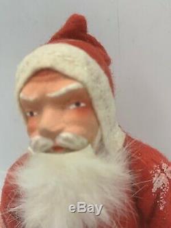 Belsnickle Antique German Santa Claus Christmas Plaster Felt Fur Beard Switch
