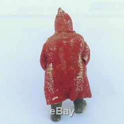 Belsnickle Primitive Antique German Santa Claus 8 Figure Christmas Plaster Felt