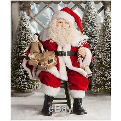 Bethany Lowe 20 Visit From Santa Claus Figure Doll Retro Vntg Christmas Decor