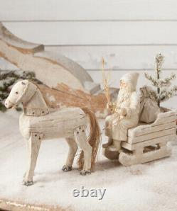 Bethany Lowe HORSE DRAWN SLED TD8551 Santa Claus/Father Christmas