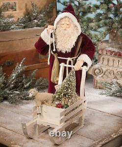 Bethany Lowe SANTA WITH SLED OF TOYS LARGE Christmas 22 Figure TD9023