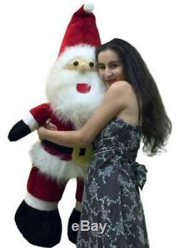 Big Plush Santa Claus 48 inch Made in USA Huge Soft Stuffed Christmas Figure