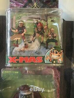 Brand New McFarlane Twisted X-Mas (Christmas) Set of 6 Figures Rare HTF Sealed