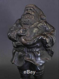 Bronze Figur Statue Weihnachtsdekoration Santa Claus 22x13x14 cm (8565)