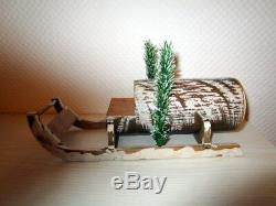 Candy Container Santa Claus on wooden sled Germany
