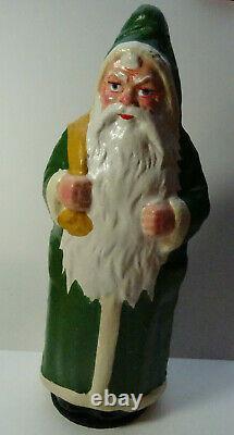 Christbaumschmuck Dresdner Pappe Candy Box Weihnachtsmann Santa Claus Grün Figur