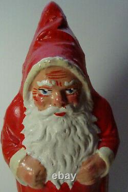 Christbaumschmuck Dresdner Pappe Candy Box Weihnachtsmann Santa Claus Rot Figur
