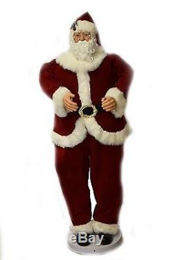 Christmas Animated Santa Claus Musical Dancing in Red Velvet Outfit 5 Foot