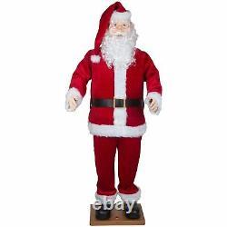 Christmas Decor Santa Claus Animated Life Size Figure Singing Dancing Holiday
