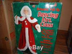 Christmas Life Size 60 Dancing Musical Santa Claus and Singing Mrs. Claus