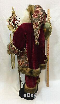 Christmas Santa Claus 36 Figure Figurine St Nick Statue Decor Red Velvet