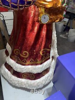Christopher Radko 4 Foot Santa Claus Figure