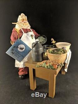 Clothtique Possible Dreams American Artist Santa Claus Cuisine Chef 15006 Rare