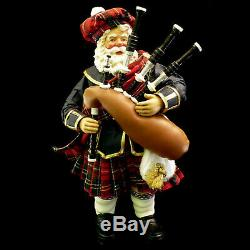 Clothtique Possible Dreams Bagpipe Santa Claus / Christmas Piper / #713226