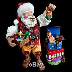 Clothtique Possible Dreams Santa Claus & Ornaments / Plaid Tidings / #15215