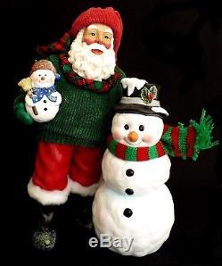 Clothtique Possible Dreams Santa Claus & Snowman / Winter Pals / #713216