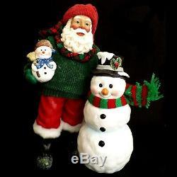 Clothtique Possible Dreams Santa Claus & Snowman / Winter Pals / No. 713216