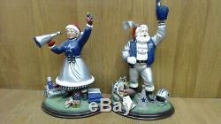 Danbury Mint NFL Dallas Cowboys Santa Claus and Mrs. Claus Figures