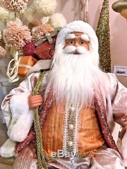 December Diamonds 24in Blush Santa Claus (Pink & Gold) DD11-11168