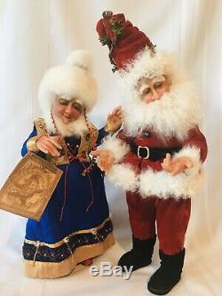 Demdaco Drolleries Love Laughter Mr Mrs Santa Claus Deborah Henderson Retired