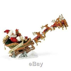 Dept 56 Possible Dreams Santa Claus In Sleigh Dash Away All 4057134 NEW NIB