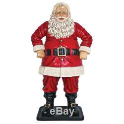 Design Toscano Jolly Santa Claus Life-Size Statue