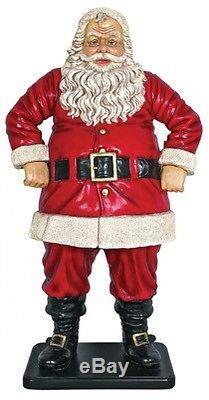 Design Toscano Jolly Santa Claus Statue Large Multicolored