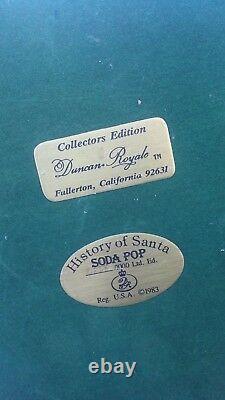 Duncan Royale History of Santa Claus Soda Pop 18 figure RARE