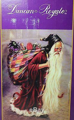 Duncan Royale Medieval Santa Claus Christmas Collection Figurine Music Box