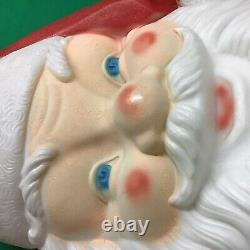 Empire Blow Mold Giant Lighted Santa Face Christmas Outdoor 36x24 Vintage 1987
