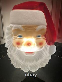 Empire Blow Mold Giant Santa Claus Face Christmas Outdoor 36 Vintage