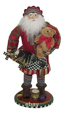 F25683EC MACKENZIE CHILDS Santa Claus Christmas Statue RARE