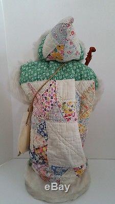 Father Christmas Doll Santa Claus Figure Linda Randall Merrytymes Antique Quilt