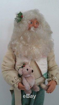 Father Christmas Doll Santa Claus OOAK Linda Randall Merrytymes Antique Quilts