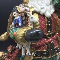 Fitz & Floyd Santa Claus Holiday Pine Tree Figure Christmas Classics Centerpiece