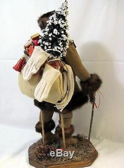 Frontier Santa Claus Doll Figure 19 by Brenda Goin Morris 2000 OOAK incl book