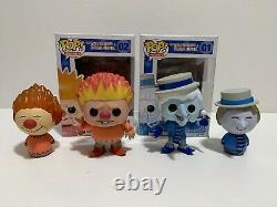 Funko Pop! Year Without Santa Claus Heat Miser & Snow Miser Figures Dorbz Lot 4