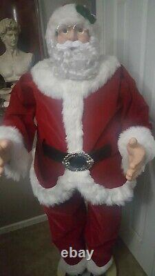 GEMMY Life Size 50 Christmas Animated Singing Dancing Santa Claus Working